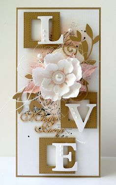 kartkulec: LOVE z kółkiem Scrapbooking, Scrapbook Pages, Scrapbook Layouts, Wedding Anniversary Cards, Kirigami, Greeting Cards Handmade, Wedding Engagement, Projects To Try, Frame