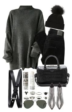 """Untitled #8509"" by nikka-phillips ❤ liked on Polyvore featuring Korres, Nobody Denim, Yves Saint Laurent, Acne Studios, Ray-Ban, Banana Republic, women's clothing, women's fashion, women and female"