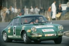 Waldegård 1971 in Sweden with Porsche 911 ST driving car from Racing Team AAW (Antti Aarnio Wihuri) Finnish team.
