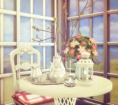 Old Miller Tea Time set conversion at Black Cat Phoenix via Sims 4 Updates