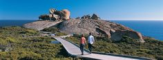 Flinders Chase National Park is a rugged wilderness featuring iconic landmarks such as the world-famous Remarkable Rocks and Admirals Arch. Australia Visa, Australia Travel, Stuff To Do, Things To Do, At Close Range, Rocky River, Kangaroo Island, Go Hiking, Small Island
