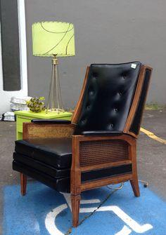 Chair Vintage Burris Mid Century 1960s 70s Green Vinyl