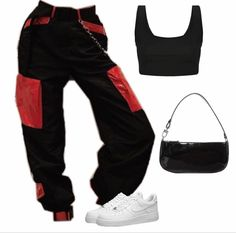 Swag Outfits For Girls, Cute Swag Outfits, Cute Comfy Outfits, Teen Fashion Outfits, Teenager Outfits, Edgy Outfits, Retro Outfits, Girl Outfits, Swag Fashion
