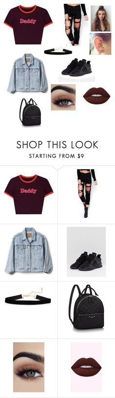 """💋"" by micaiah71201 on Polyvore featuring WithChic, Gap and adidas"