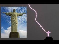 RIO DE JANEIRO, BRAZIL'S CHRIST THE REDEEMER STATUE STRUCK BY LIGHTNING ...