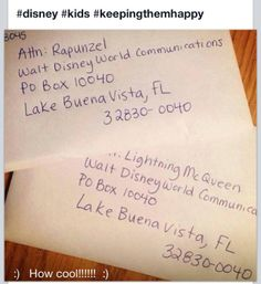 You can send a letter to your favorite Disney character and you will get an 8x10 autographed picture back! How cool!! Kids would love this...possible Christmas idea!