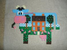Vache cadre hama beads by creation-nath