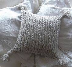 Ravelry: Aran Trellis Cable Cushion by Audrey Wilson