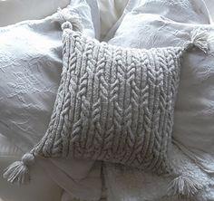 Ravelry: Aran Trellis Cable Cushion by Audrey Wilson