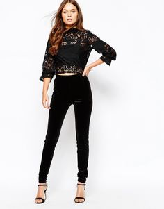 Gorgeous Lace Crop Top With High Neck