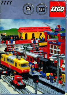 LEGO 7777 Trains Ideas Book instructions displayed page by page to help you build this amazing LEGO Books set Lego City Train, Lego Trains, Lego Station, Train Station, Classic Lego Sets, Technique Lego, Lego Books, Water Well Drilling, Lego Police