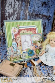 Celebrate Family with this Layout Video Tutorial featuring Penny's Paper Doll Family by Sandy Trefger