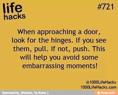 1000 life hacks is here to help you with the simple problems in life. Posting Life hacks daily to help you get through life slightly easier than the rest! 100 Life Hacks, Hack My Life, Life Hacks For School, Simple Life Hacks, Useful Life Hacks, Life Tips, Embarrassing Moments, Making Life Easier, The More You Know