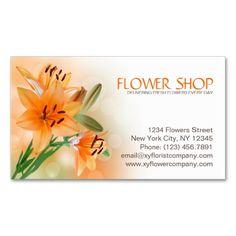 71 best business cards florist images on pinterest business card florist flower shop lily flowers business card colourmoves
