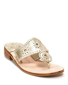 """Jack Rogers """"Hamptons"""" Thong Sandals..  after platinum I also want them in navy, black and silver!"""
