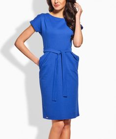 bc3f00300a Lemoniade Blue Side-Pocket Tie-Waist Dress. Moda Damska