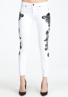 seriously!! i want i want i want....my bday wishlist!!!  Lace Icon Skinny Jean - Love the lace treatment on these jeans!