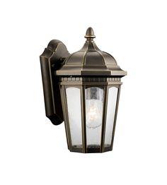 Kichler 9032RZ Courtyard 1 Light 11 inch Rubbed Bronze Outdoor Wall Lantern #LightingNewYork