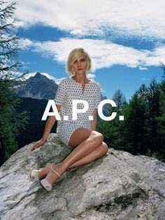 A.P.C. spring 2014 collection. Aline Weber shot by Walter Pfeiffer.