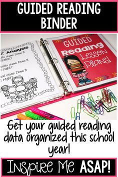 Are you looking to get your guided reading materials organized once and for all? This resource will help you not only implement guided reading in your classroom, but also help you with a way to organize all of your materials. Click here to get organized t 6th Grade Reading, Beginning Reading, Kindergarten Reading, Teaching Reading, Close Reading, Teaching Tools, Teaching Ideas, Guided Reading Binder, Guided Reading Organization