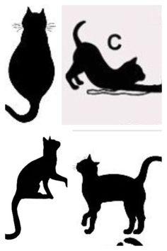 Cat silhouette tattoo ideas. | Tattoos | Pinterest | Cat ...