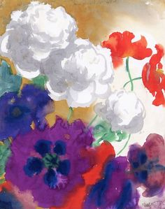 Flowers Emil Nolde circa 1935 Private collection ...