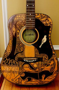 sharpie guitar by Maggie Stiefvater