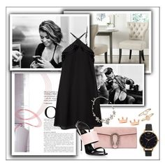 """Little Black Dress"" by frenchfriesblackmg ❤ liked on Polyvore featuring Safavieh, Olivia Burton, Miss Selfridge, Gucci, Giuseppe Zanotti, Oscar de la Renta and Accessorize"