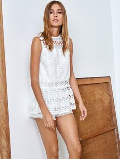 Alexis Clothing 'Estee Shorts White' | Shop Splash