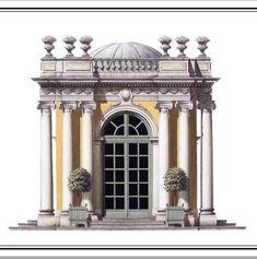 Neoclassical Architecture, Baroque Architecture, Historical Architecture, Architecture Plan, Architecture Details, Landscape Architecture, Norman Foster, Pavilion Design, Small Buildings