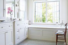 White Bathroom Design Ideas Photos   Architectural Digest  LOVE the casement windows!