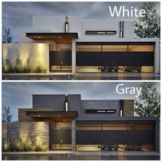 New House Architecture Facade Exterior Design Ideas House Front Design, Modern House Design, Modern Contemporary House, Modern Homes, Rustic Modern, Home Interior Design, Exterior Design, Kitchen Interior, Design Interiors