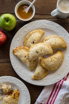 Apple Hand Pies have a gorgeous salted caramel sauce. Yes, please!