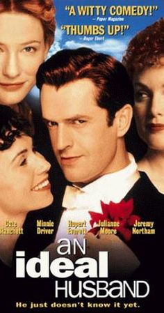 Directed by Oliver Parker.  With Rupert Everett, Julianne Moore, Peter Vaughan, Minnie Driver. Sir Robert Chiltern is a successful Government minister, well-off and with a loving wife. All this is threatened when Mrs Cheveley appears in London with damning evidence of a past misdeed. Sir Robert turns for help to his friend Lord Goring, an apparently idle philanderer and the despair of his father. Goring knows the lady of old, and, for him, takes the whole thing pretty seriously.
