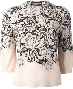 Dolce & Gabbana floral lace sweater on shopstyle.co.uk