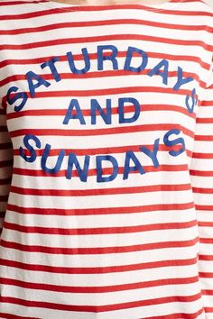 Striped Weekend Tee - anthropologie.com