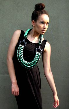 Rope jewelleries by FERN ELIZABETH influenced by climbing  technology. WWT saw them in flesh yesterday at Saint Martins Degree Show and we were sincerelly blown away! http://fernelizabethstyle.tumblr.com/