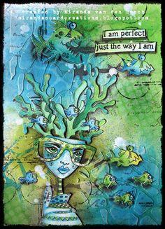 Miranda van den Bosch. Dylusions art journal page.