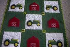 three+dimensional+baby+quilt | The John Deere Tractor Quilts are custom made and require a 50% ...