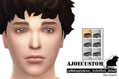[ajoecustom] ymMakeupEyebrows_ArchedThick_default Male / 18Color / default I hope you like :) .Download.