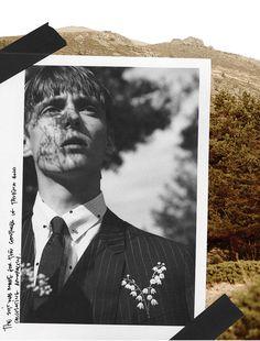 THE SUIT AND THE PHOTOGRAPH Photographer: Gorka PostigoArtworks:Nicolas Santos All clothes Dior Homme FW14