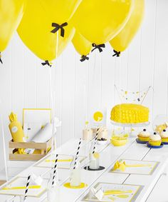 1000 ideas about yellow party themes on pinterest for B day decoration ideas