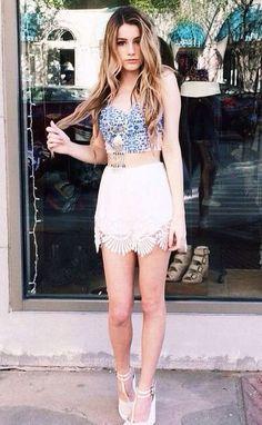 #summer #fashion / lace skirt