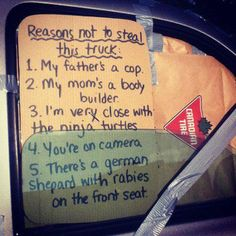Reasons Not To Steal This Truck