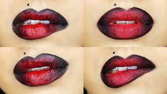 Makeup Vampy Ombre Lip - 2 Different Techniques There are many different kinds of landscaping stones Ombre Lips Tutorial, Basic Makeup Tutorial, Lip Tutorial, Lipstick Tutorial, Makeup Tutorial For Beginners, Makeup Tutorials, Edgy Eye Makeup, Red Lip Makeup, Hair Makeup