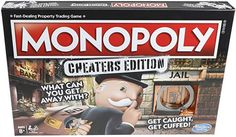 """INSIDER exclusively reveals Monopoly """"Cheaters Edition"""" which will allow players to try and get away with cheating to advance in the game. Hasbro is releasing the game June Monopoly Board, Monopoly Game, Gaming, Family Fun Night, Game Guide, Cheaters, Christmas Gifts For Kids, Family Games, Cool Toys"""