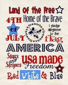 4th of July subway art printable from Free Time Frolics