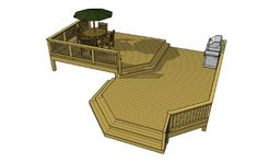 Free deck plans 2L060. But the stairs would go down into a built-in fire pit, perhaps with sunk in seating.