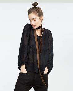 EMBROIDERED BLOUSE - Новинки недели - НОВИНКИ НЕДЕЛИ | ZARA Украина