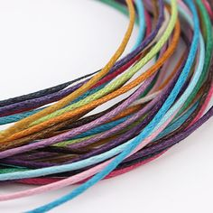 90m/bag Waxed Leather Cord Necklace Mixed Color Cords Beading String Thread Rope For Bracelet Marking Jewelry Accessories F1621